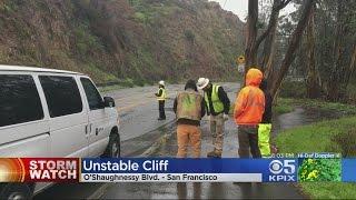 Rockslide Danger Closes Busy San Francisco Road