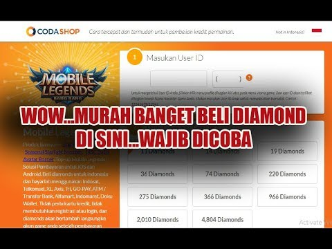 Cara Paling Mudah Beli Diamond Mobile Legend ( CODA SHOP )