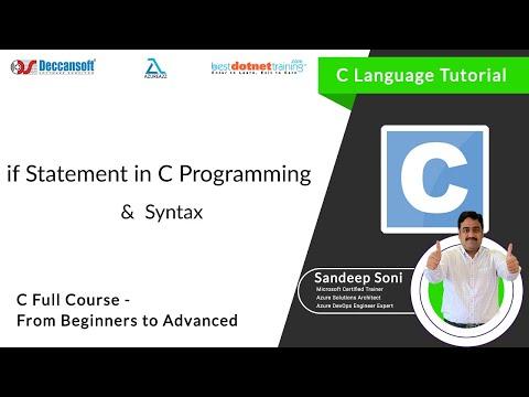 If Statement in C Language for C Beginners – C Programming Training