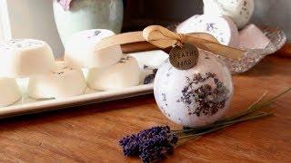 Lavender Bath Bombs DIY