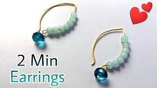 How To Make Earrings | Easy Tutorial For Beginners | Earrings Design Gold