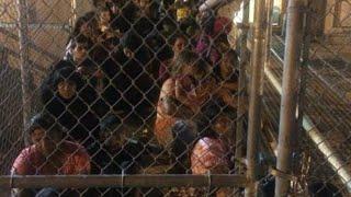 Walmart en Brownsville convertido en el albergue de menores migrantes más grande de Estados Unidos.
