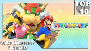 TOP 10 WORST MARIO PARTY MINI GAMES