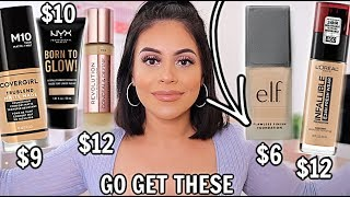 TOP 5 DRUGSTORE FOUNDATIONS: YOU HAVE TO TRY THESE! *full Coverage + Long Wearing*