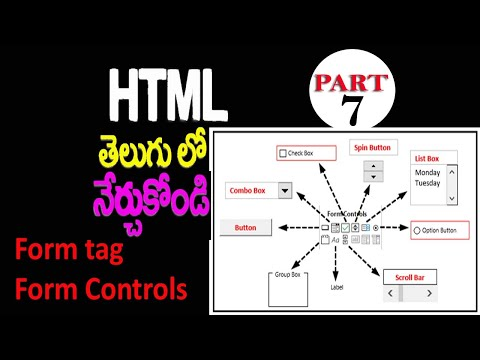 Html Telugu How To Create Website And How To Learn Html PART 7 | Form tags & Form control tags