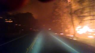 Escaping Anderson Springs during Valley Fire