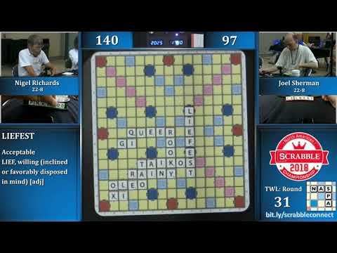 2018 Scrabble Championship 10/10
