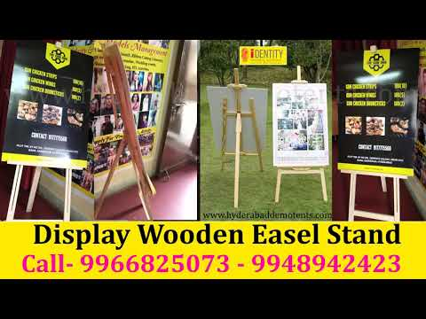 Wooden Easel Display Stand