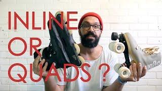 ROLLER SKATES OR INLINE SKATES ? // HOW TO SKATE FOR DUMMIES TUTORIAL - EPISODE 1