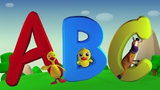 ABC sang   barnehagerymer   3D baby sanger   Alphabets Rhymes   3D Rhymes by Farmees   ABC Songs