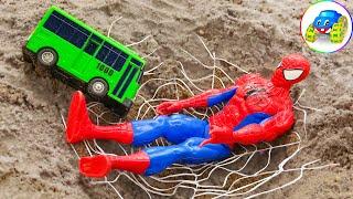 Spider Man, Bus, Excavator, Dump Truck Toys for Kids - Kid Studio