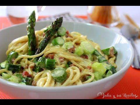 Cómo hacer espaguetis con espárragos | MUY SABROSOS Y FÁCILES