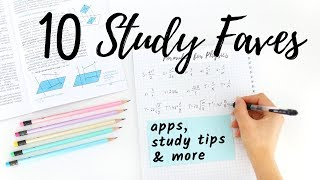 10 Study Favorites - Apps, Study Tips, Desk Accessories & More!