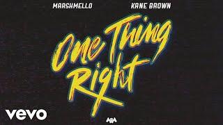 Marshmello, Kane Brown - One Thing Right (Audio)