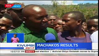 Machakos county residents reacts to the voter turnout in the county
