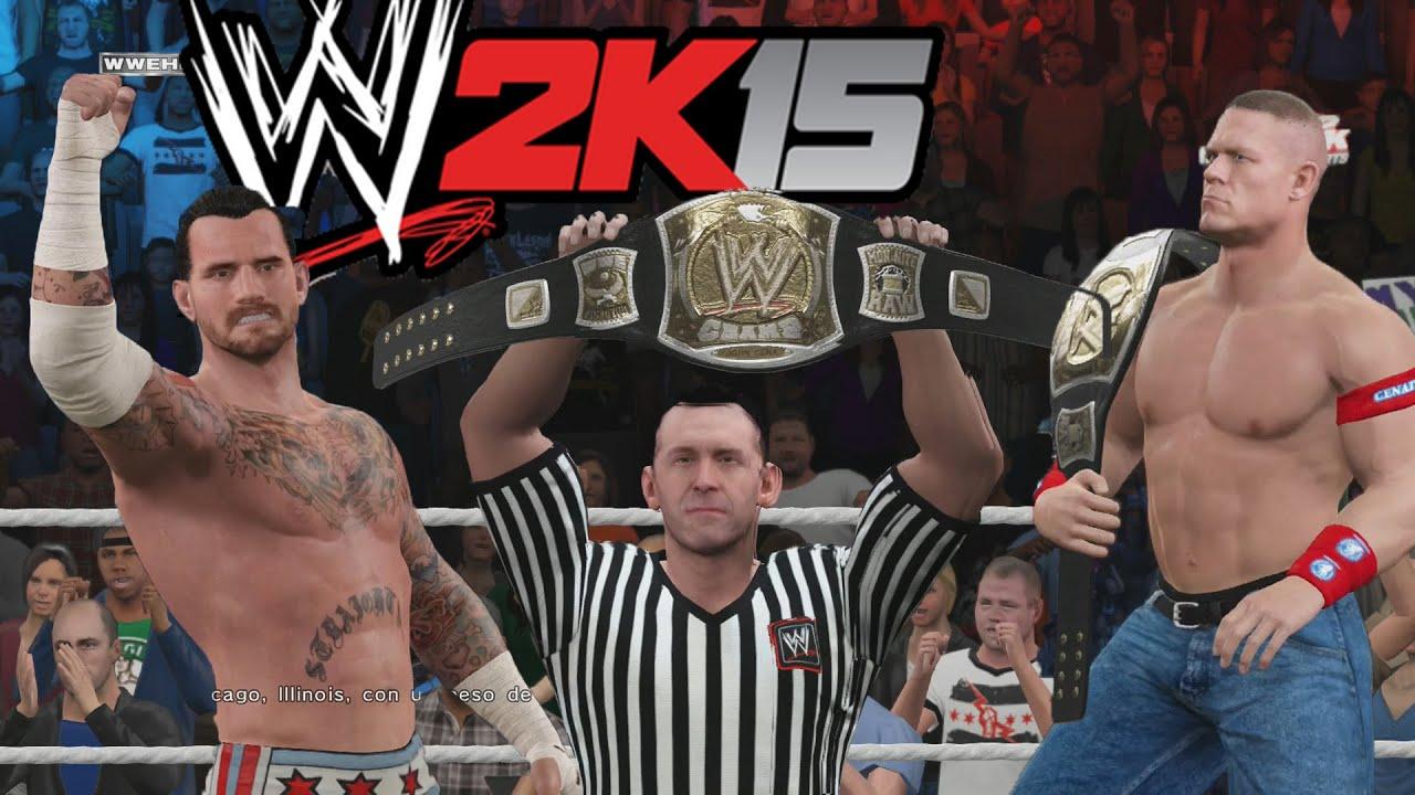 Ver WWE 2K15 Gameplay en PS4 – John Cena Vs CM Punk Combate a muerte en Español Online
