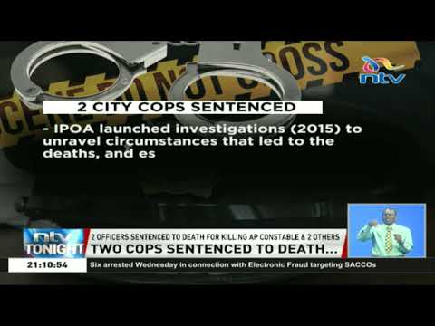 Two officers sentenced to death for killing AP constable and two others