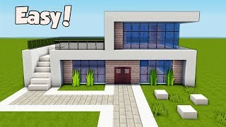 Minecraft: How To Build A Small & Easy Modern House Tutorial (#25)