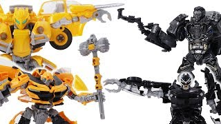 Transformers Toys Movie Animation - Bumblebee Vs Lockdown and Barricade
