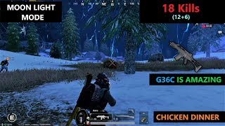 """[Hindi] PUBG MOBILE   Another MoonLight Chicken Dinner In Vikendi Map With """"G36C"""" Gun"""