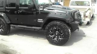 877-544-8473 20 Inch Fuel D576 Black Milled Rims Jeep Wrangler Wheels Free Shipping Call Us!