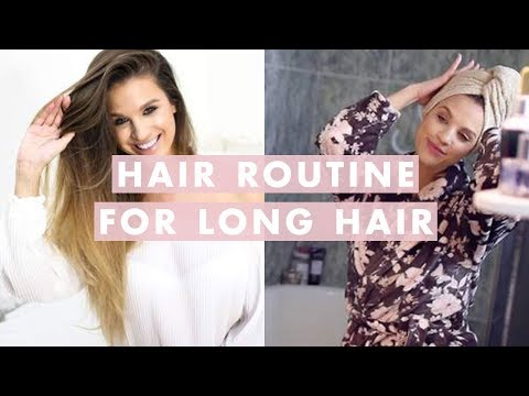 Hair Routine for Long Hair: How To Wash, Dry, and Style | Luxy Hair