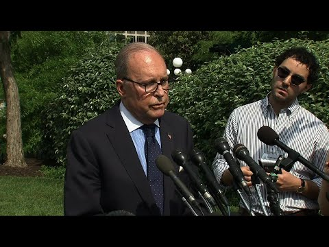 The White House is welcoming new jobs numbers Friday. Larry Kudlow, the White House National Economic Adviser, told reporters that the strength in jobs and wages was coming from the middle and the lower middle economic ranges. (May 3)