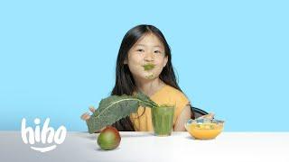 Kids Try a Raw Food Diet  | Kids Try | HiHo Kids
