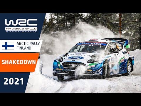 WRC 2021 第2戦のラリーフィンランド シェイクダウンのハイライト動画