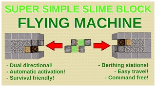 how to make a flying machine in minecraft with observers