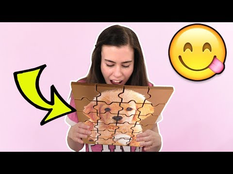 EATING A PUZZLE?!? REAL CHOCOLATE!!!