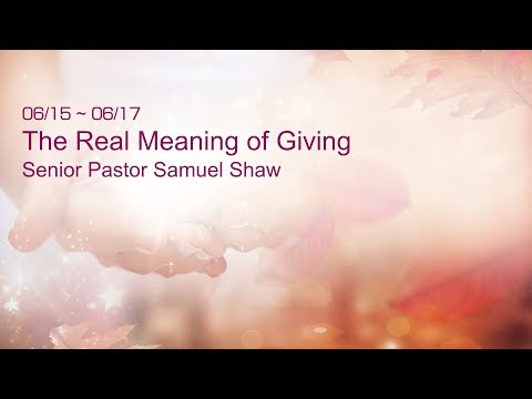 20190616 Banner Church - The Real Meaning of Giving