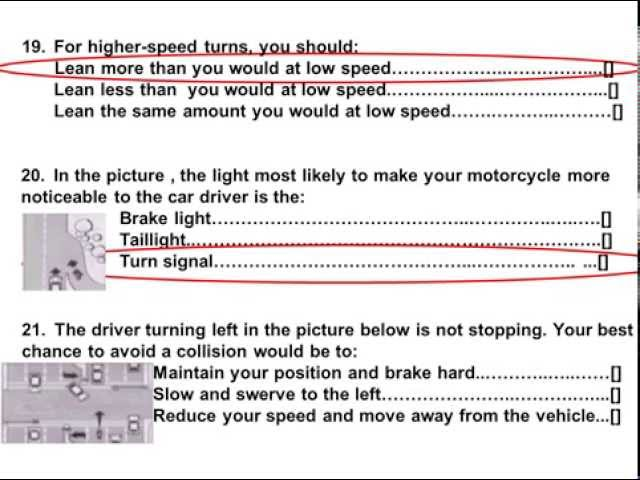 Ca Dmv Motorcycle Test Answers | Reviewmotors co