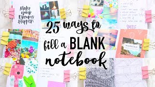 25 Ways to Fill a BLANK Notebook   Paris & Roxy
