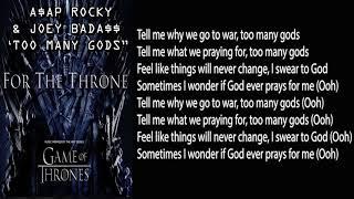 A$AP Rocky & Joey Bada$$   Too Many Gods [LYRICS]