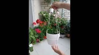 How To Hang A Flower Pot With A Rope  - Comment Accrocher Un Pot De Fleur Avec Une Corde