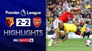 SUBSCRIBE ► http://bit.ly/SSFootballSub Highlights from Vicarage Road as Arsenal threw away a 2-0 lead at Watford through defensive errors as Quique Sanchez Flores' side earned a 2-2 draw in the first game of his second spell at the club. Watch Premier League LIVE on Sky Sports here ► http://bit.ly/WatchSkyPL ►TWITTER: https://twitter.com/skysportsfootball ►FACEBOOK: http://www.facebook.com/skysports ►WEBSITE: http://www.skysports.com/football  MORE FROM SKY SPORTS ON YOUTUBE: ►SKY SPORTS FOOTBALL: http://bit.ly/SSFootballSub ►SKY SPORTS BOXING: http://bit.ly/SSBoxingSub ►SOCCER AM: http://bit.ly/SoccerAMSub ►SKY SPORTS F1: http://bit.ly/SubscribeSkyF1