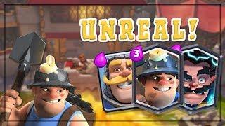 UNREAL 30+ WIN STREAK!! ~ Best Miner Poison Deck