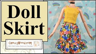Free Doll Clothes Patterns: Disney Princess Doll Skirt