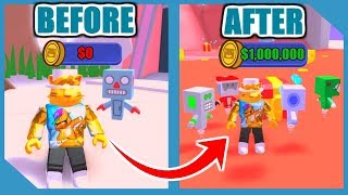 NOOB TO PRO! RAREST ROBOT AND UNLOCK ALL AREAS IN BATTLE BOT SIMULATOR