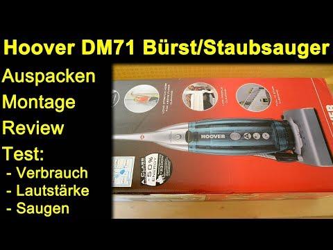 Hoover DM71 Bürstsauger Staubsauger - Auspacken Montage Review Test Verbrauch Lautstärke Saugen