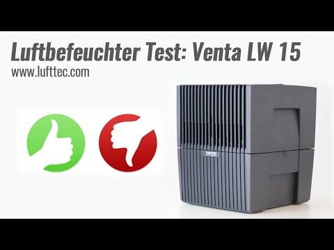 Luftbefeuchter Test - Venta LW 15 Luftwäscher Videotestbericht