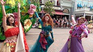 Disneyland Paris Festival of Pirates and Princesses - Team Princess w/Moana, Belle, Rapunzel +