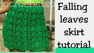Falling Leaves Crochet Skirt Tutorial