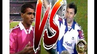 Romário vs Stoichkov (América do Sul vs Europa- Amistoso UNICEF 1995)