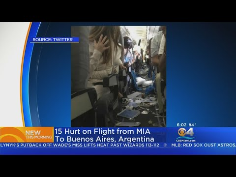 15 hurt on flight from miami to buenos aires