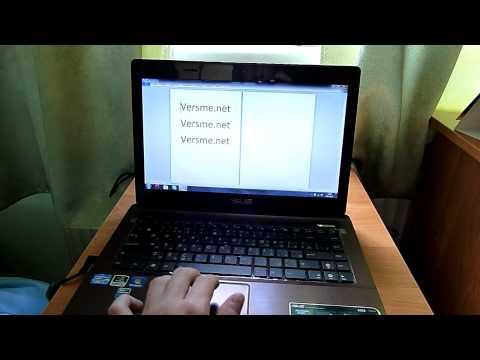 Asus K43SJ multi touch pad