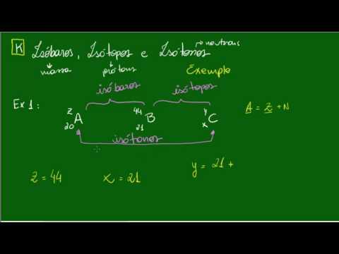 Isóbaros, Isótopos e Isótonos - Exemplos - Átomos - Química