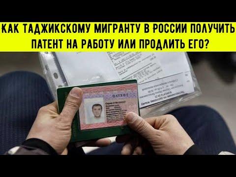 Как таджикскому мигранту в России получить патент на работу или продлить его?