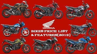 Honda Bikes Price List In India [2019] | Mileage | Features | Review | Minute